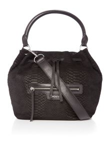 DKNY Snake black bucket bag