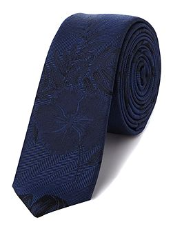 Kenneth Cole Cruz Hibiscus jacquard silk tie