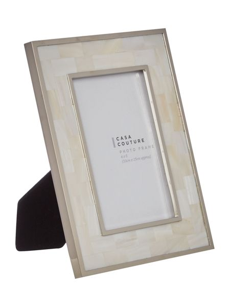 Casa Couture White mother of pearl frame 4x6