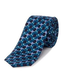 Kenneth Cole Bryson Printed hexagon silk tie