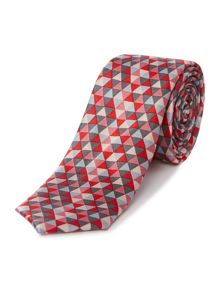 Kenneth Cole Phillip Mosaic jacquard silk tie