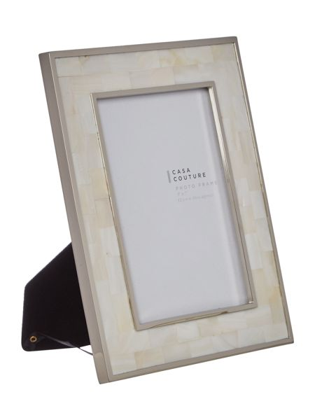 Casa Couture White mother of pearl frame 5x7