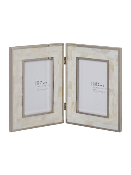 Casa Couture Hinged white mother of pearl frame 4x6