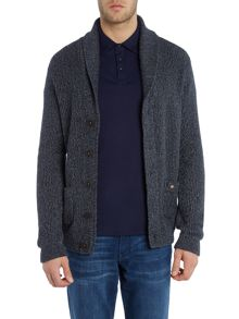 Shawl Neck Heavy Knitted Cardigan