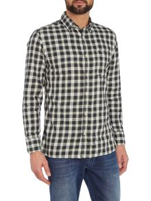 Jack & Jones Small Check Long Sleeve Button Through Shirt