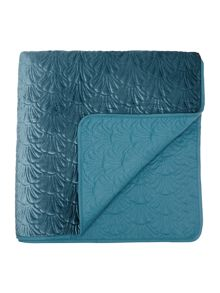 Shell bedspread, teal