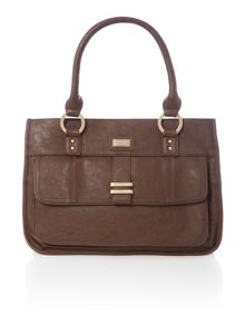 Nickel brown tote bag