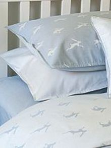Harriet Hare Running Hare dark pillowcase
