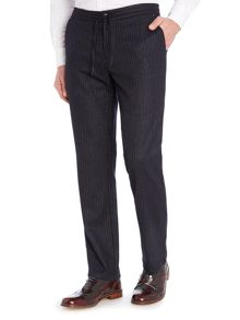 Sisley Men Pinstripe Relaxed Fit Trousers