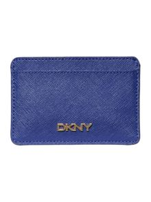 Saffiano blue card holder