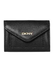 Chelsea black envelope card case