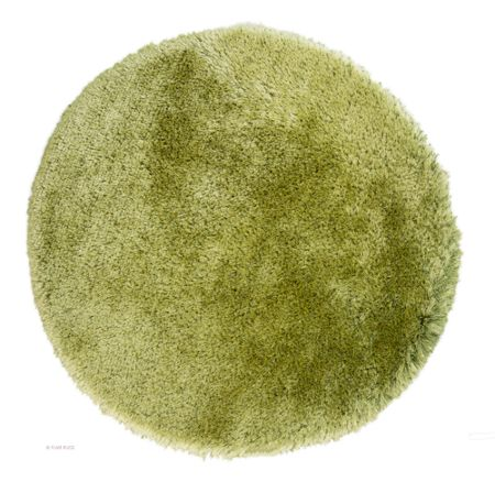 Flair Rugs Pearl Sage Green Round Rug 150X150