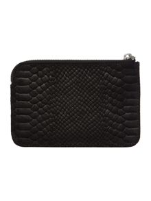 Snake black medium wristlet pouch