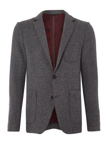 Sisley Men Raw Edge Wool Mix Blazer