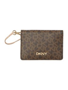 DKNY Coated logo brown mirror case