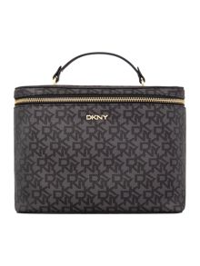 DKNY Coated logo black traincase set