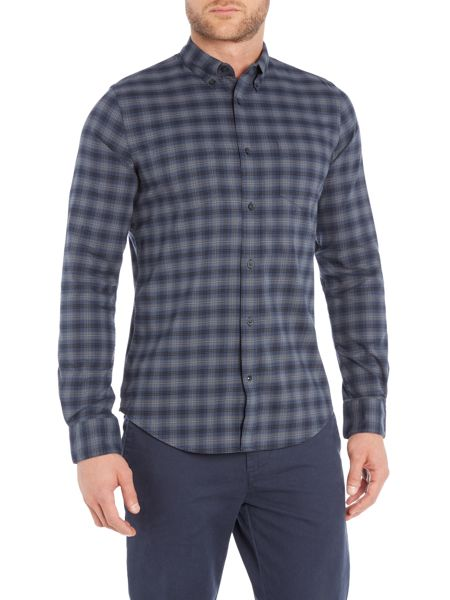 Sisley Men Tartan Check Long Sleeve Shirt