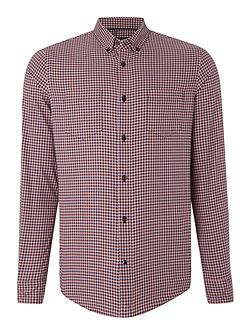 Small Check Long Sleeve Classic Fit Shirt