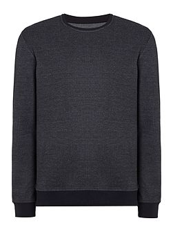 West Textured Crew Neck