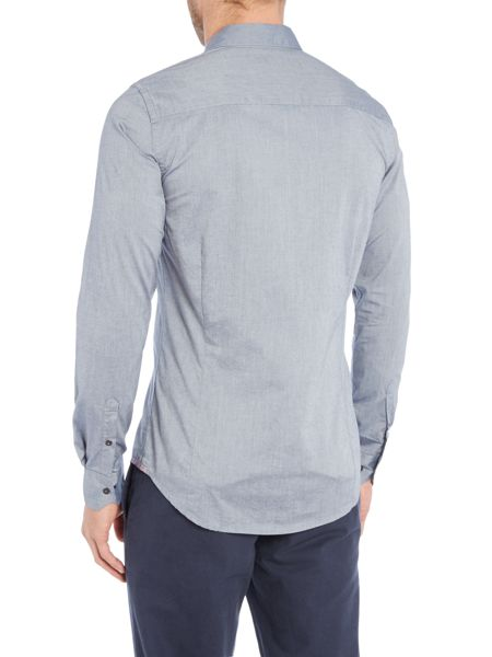 Sisley Men Pocket Detail Long Sleeve Shirt