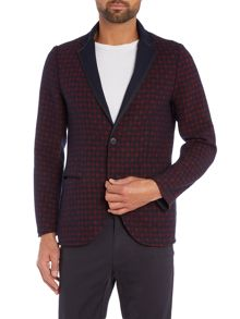 Sisley Men Reversible Check Blazer