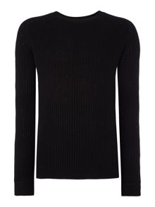 Sisley Men Ribbed Crew Neck Knitted Jumper