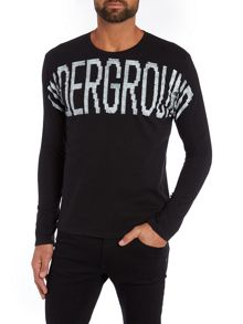 Sisley Men Underground Crew Neck Long Sleeve T-shirt