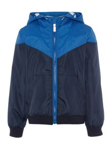 Boys Hooded showerproof jacket