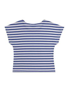 Little Dickins & Jones Girls Sequin butterfly striped tee