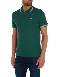 Regular fit tipped logo polo shirt