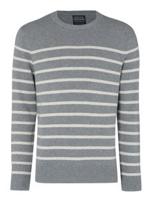 Howick Breton striped crew neck jumper
