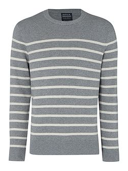 Breton striped crew neck jumper
