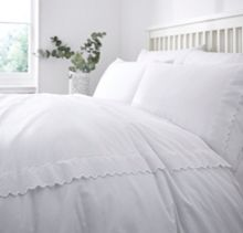 Linea White pretty duvet set