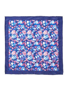 New & Lingwood Ealing Printed floral silk pocket square
