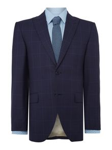 Bolva SB2 peak lapel check suit jacket