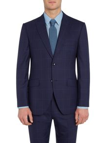 Corsivo Bolva SB2 peak lapel check suit jacket