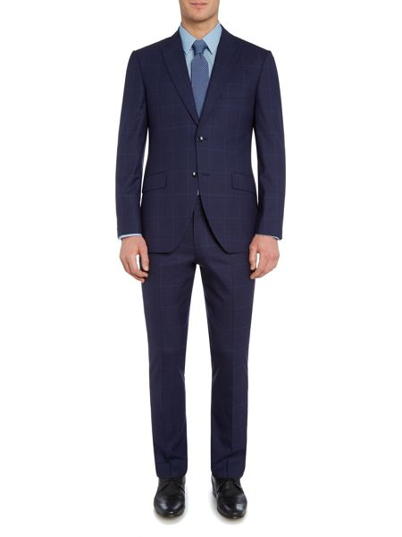 Corsivo Bolva Check Suit Trousers