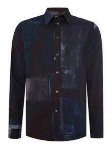 Paul Smith Jeans Tailored fit digital printed shirt