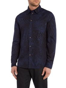 Paul Smith Jeans Tailored fit melted spot print shirt