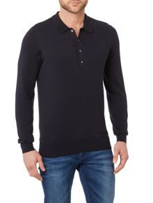 PS By Paul Smith Long sleeve knitted cotton polo shirt