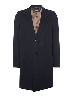 Wool blend 2 button overcoat