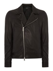 PS By Paul Smith Leather biker jacket