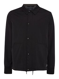 Collared zip through harrington jacket