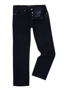 Easy fit dark blue jean