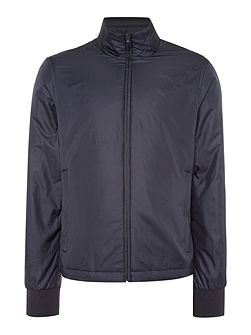 Funnel neck zip through harrington jacket