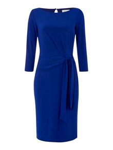 Venessa side tie 3/4 sleeve jersey dress