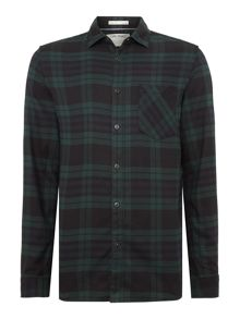 Jack & Jones Long Sleeve Checked Button Through Shirt