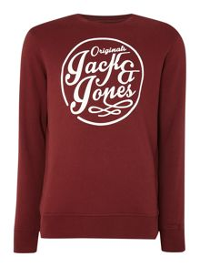 Jack & Jones Crew Neck Long Sleeve Sweatshirt