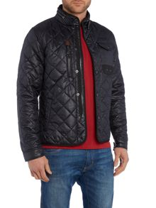 Quilted Zip Up Field Jacket