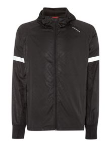 Pyson zip through hooded jacket